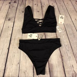 NWT Billabong high waist high leg cheeky bikini